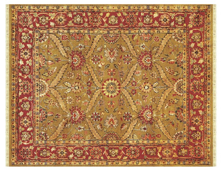 Pietra Rug, Gold/Red