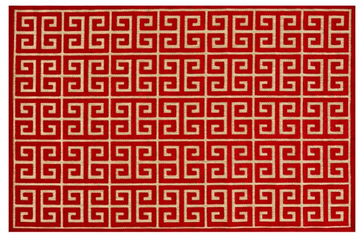Stefanie Outdoor Rug, Red
