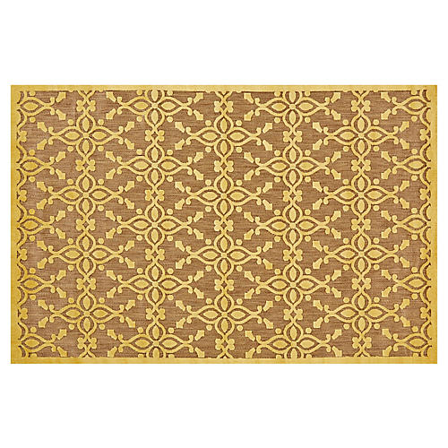 Grant Outdoor Rug, Tan/Yellow