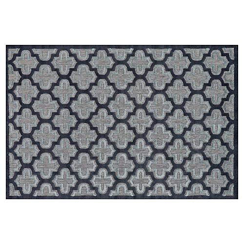 Moulene Outdoor Rug, Black/Charcoal