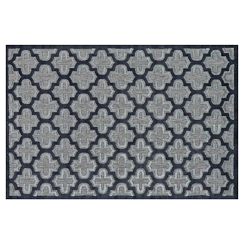 Moulene Outdoor Rug, Black/Charcoal