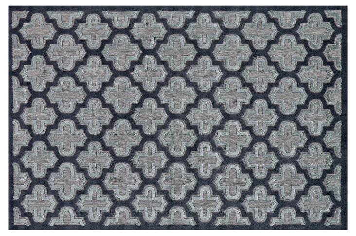 Moulene Outdoor Rug, Black