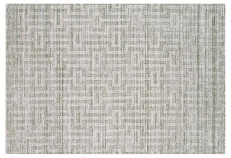 India Rug, Fog/Gray