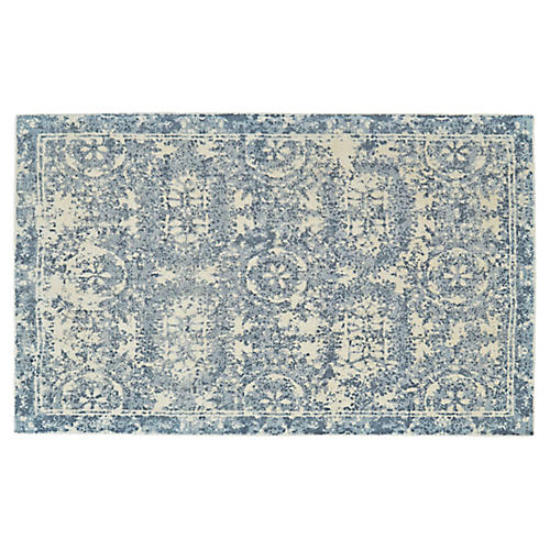 Avalyn Rug, Blue/Cream