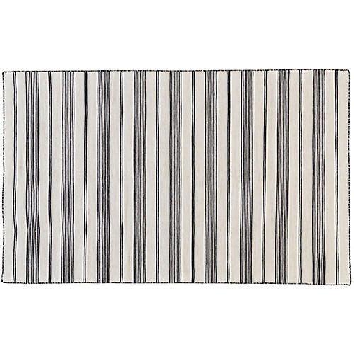 Gilford Outdoor Rug, Black/White