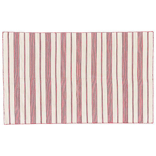 Gilford Outdoor Rug, Fuchsia/White