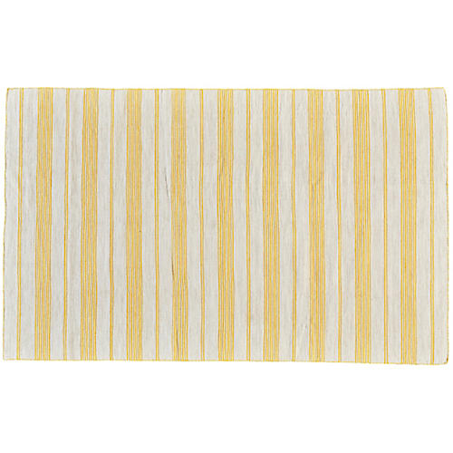 Gilford Outdoor Rug, Gold/White