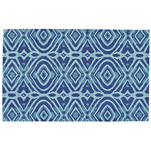 Marni Outdoor Rug, Lunar Blue/Multi