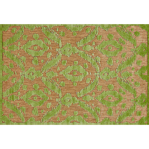 Grant Outdoor Rug, Tan/Light Green