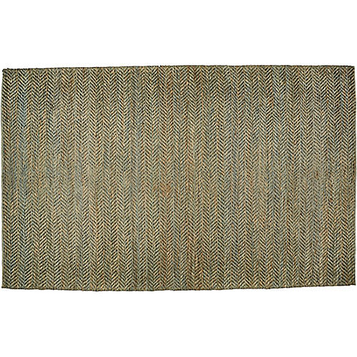 Roswell Flat-Weave Rug, Green