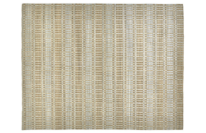 Hawthorne Hand-Knotted Rug - Tan/Silver