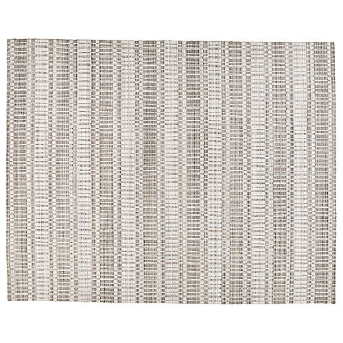 Hawthorne Hand-Knotted Rug, Gray/Ivory