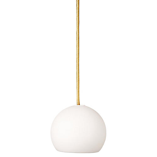 Pratt Mini-Pendant, White/Gold