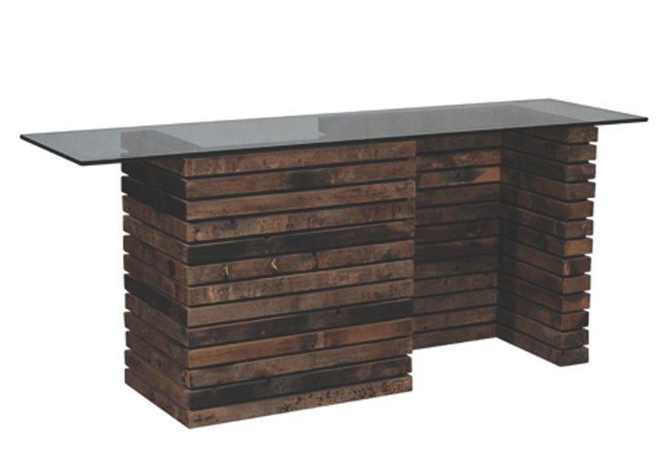 Lincoln Slatted Console Table