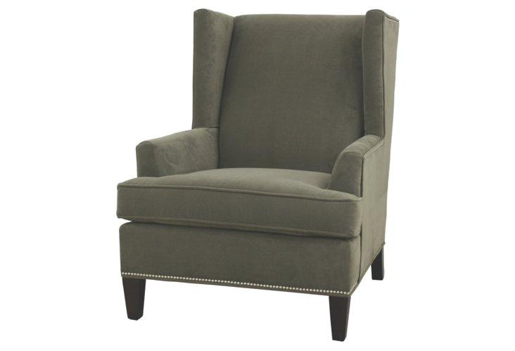 Lewis Wing Chair, Sage