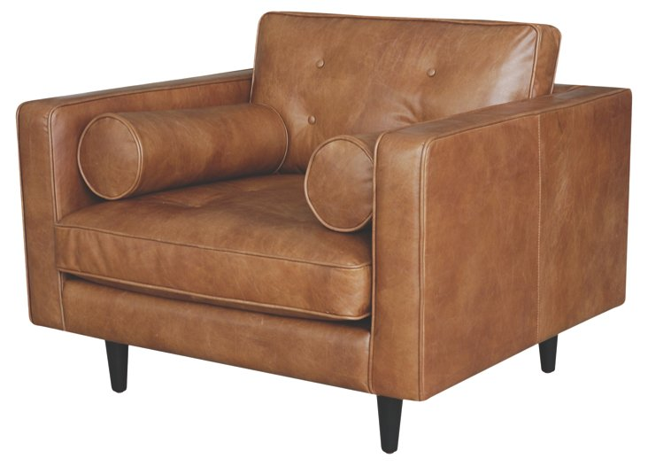 Johnathon Chair, Cognac