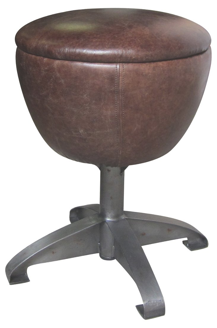 DNU,OForman Leather Stool