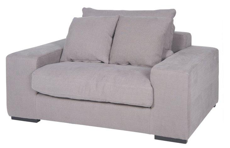 """DNU,OLangley 60"""" Club Chair, Gray"""
