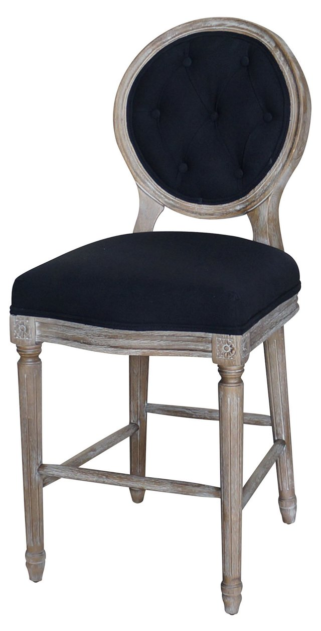 Sully Counter Stool, Black