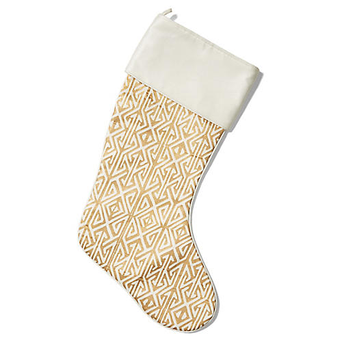 "21"" Duncan Stocking, Gold/Ivory"