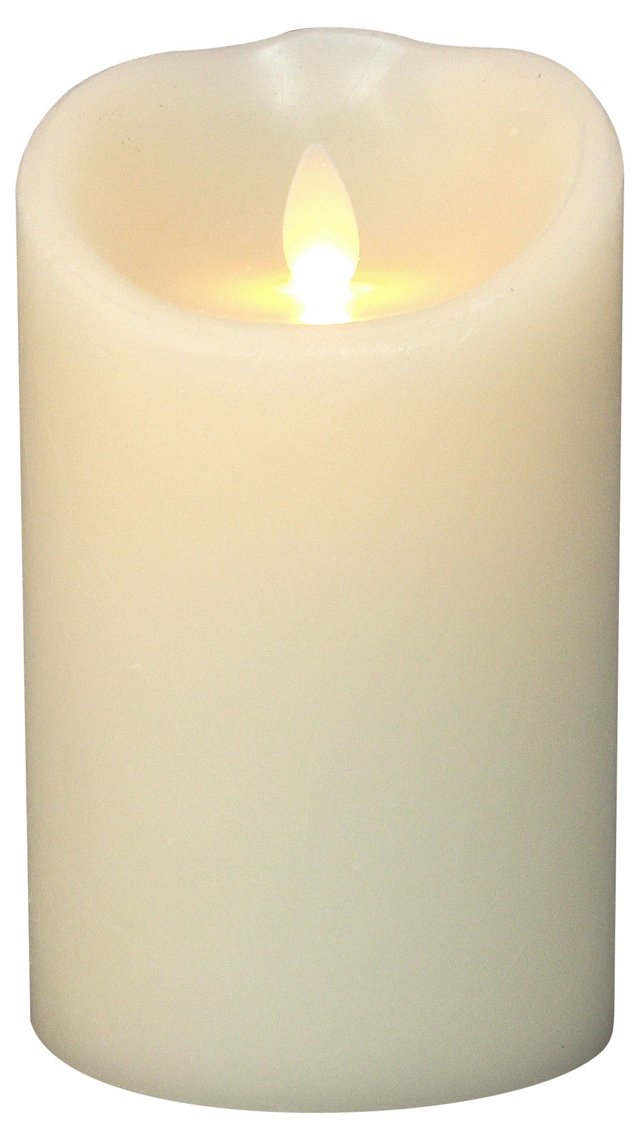 """5"""" Flameless Candle w/ Timer, Ivory"""