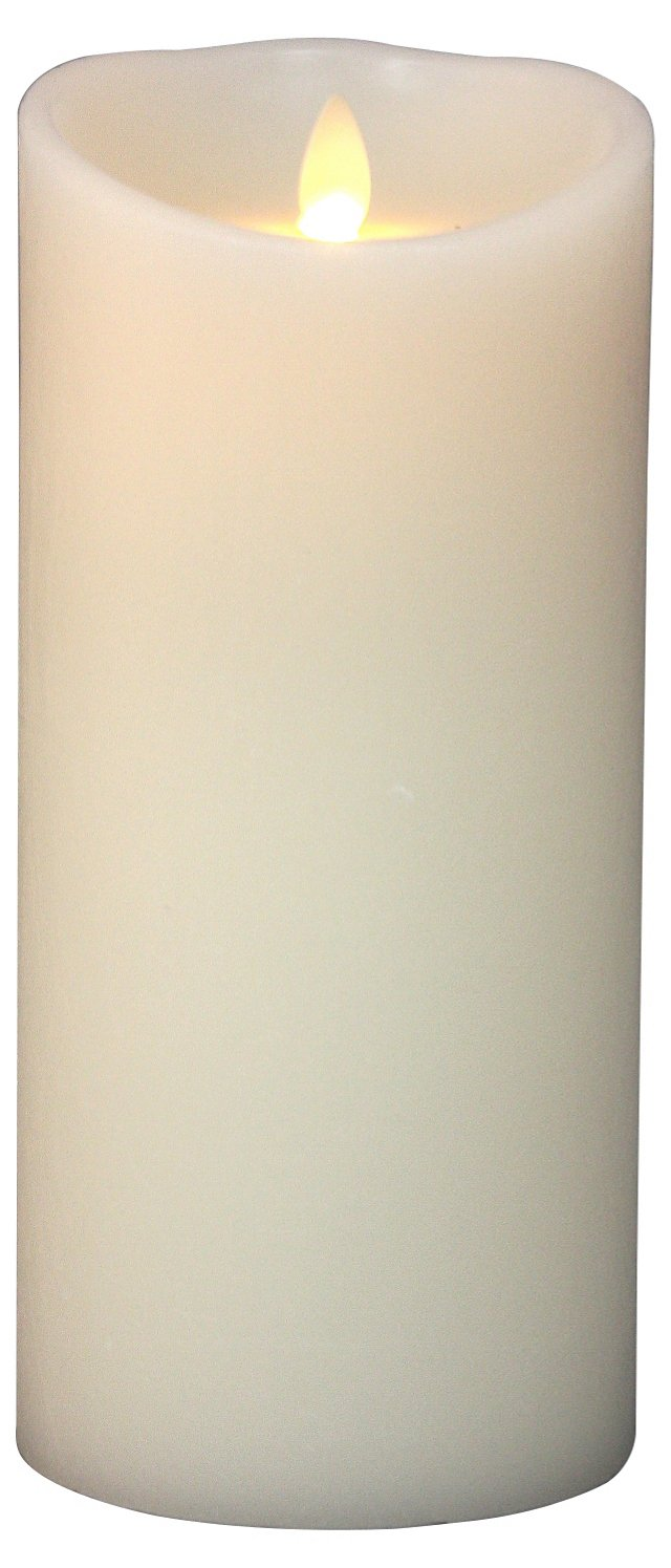 """9"""" Flameless Candle w/ Timer, Ivory"""