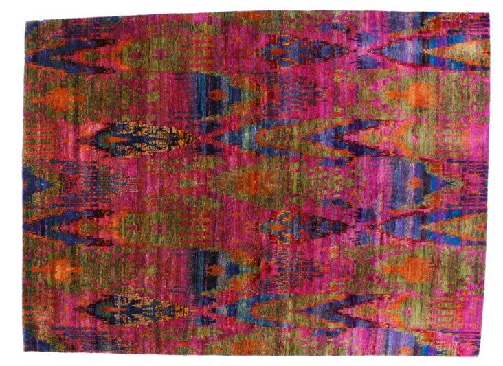 "7'10""x10'8"" Sari Silk Rug, Fuchsia/Multi"
