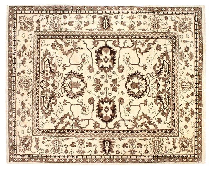 8' x 10' Oushak Rug, Ivory/Taupe