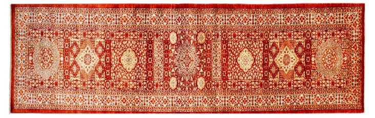 "2'7"" x 11'11"" Mamluk Runner, Red/Ivory"