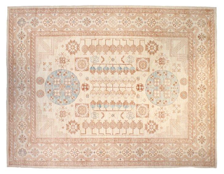 """9'x11'7"""" Khotan Rug, Blush/Ivory"""