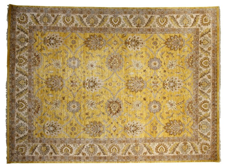 "9'x12'2"" Hailey Rug, Gold/Ivory"
