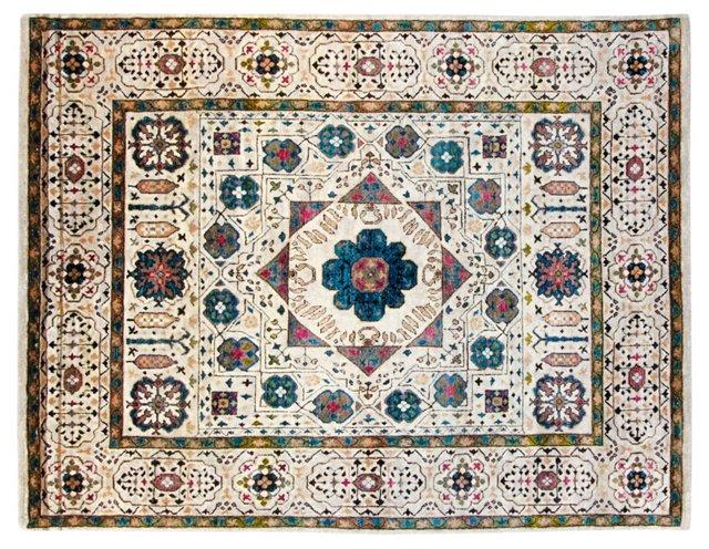 "8'x10'3"" Sari Silk Corfu Rug, Ivory"