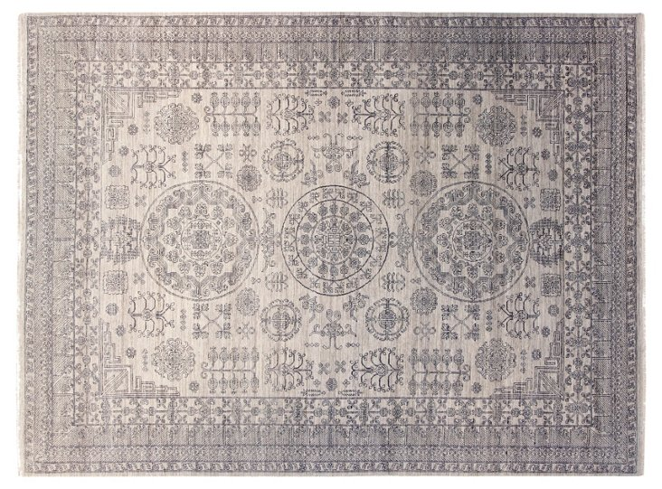 "9'x11'11"" Sliger Rug, Light Gray"