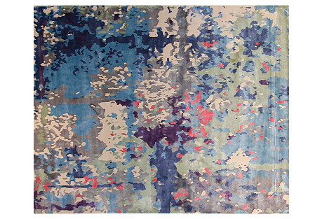 8'x10' Raina Rug, Blue/Multi