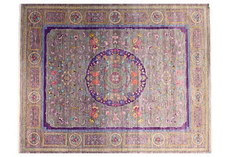 8'x10' Sari Wool Khotan Rug, Multi