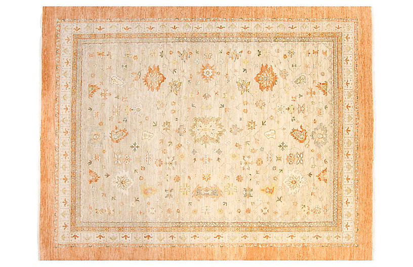 8 X10 Oushak Rug Ivory Orange F J Kashanian Brands