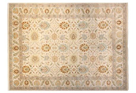9'x12' Oushak Rug, Ivory