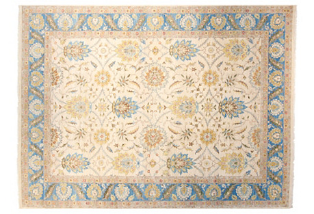 9'x12' Passion Rug, Ivory/Blue