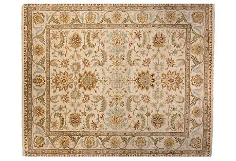 10'x14' Oushak Rug, Ivory