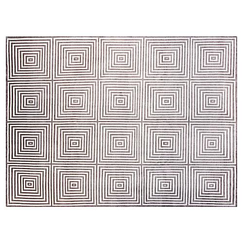 9'x12' Royal Rug, Gray/Ivory