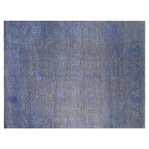 9'x12' Firenze Rug, Gray/Blue