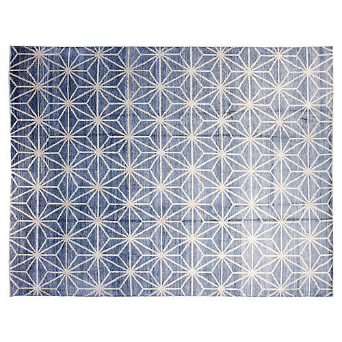 9'x12' Madison Hand-Knotted Rug, Blue
