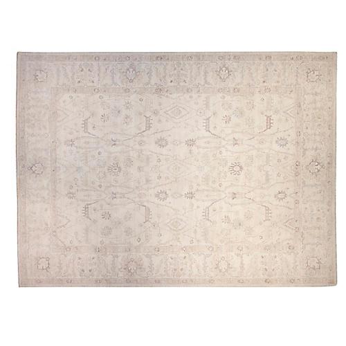 12'x15' Peshawar Rug, Ivory