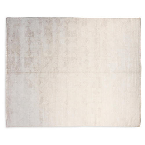 8'x10' Passion Hand-Knotted Rug, Silver