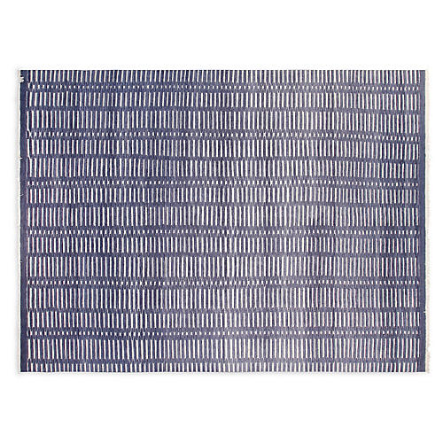 9'x12' Soho North Hand-Knotted Rug, Navy/Ivory