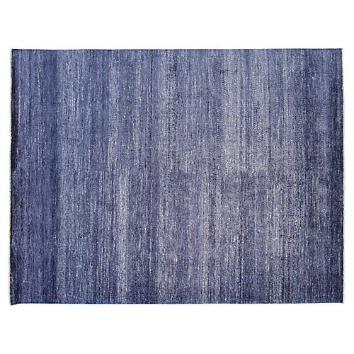 9'x12' Firenze Hand-Knotted Rug, Navy
