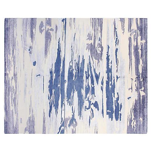 8'x10' Daniel Rug, Ivory/Blue