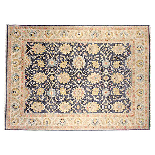 8'x10' Oushak Hand-Knotted Rug, Navy
