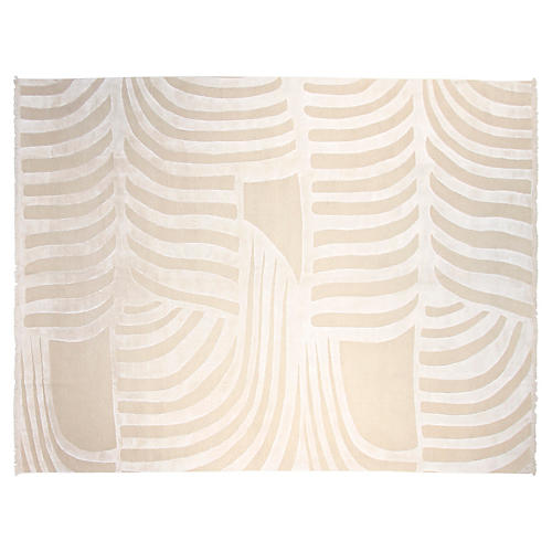 9'x12' Maine Hand-Knotted Rug, Beige
