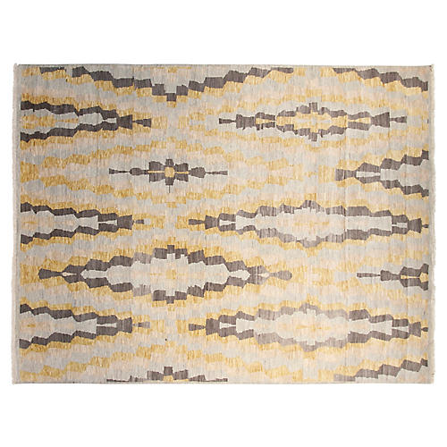 8'x10' Brooklyn Hand-Knotted Rug, Gold/Gray